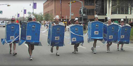 porta potty race